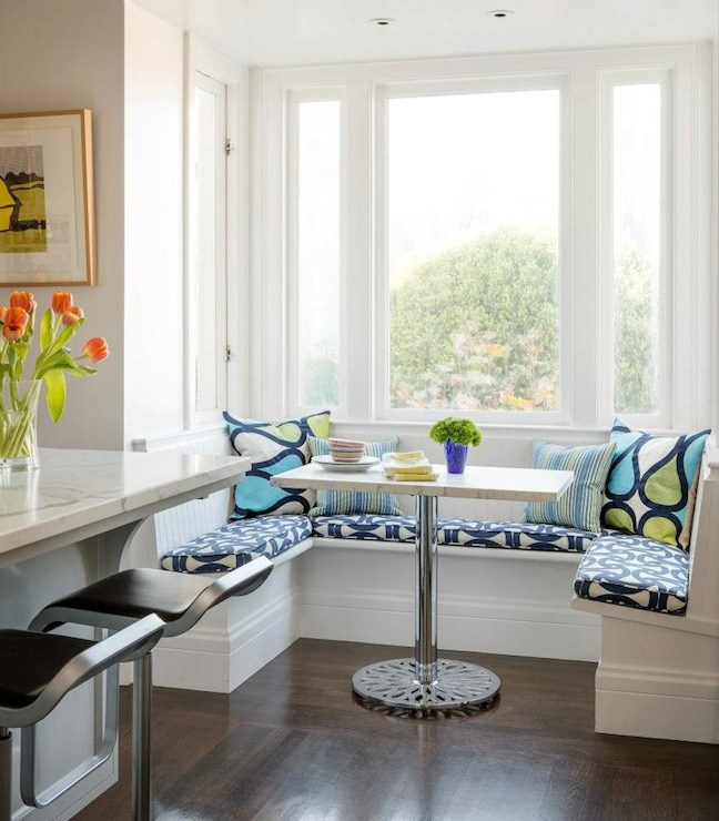 Blue Bar Stool Cushions