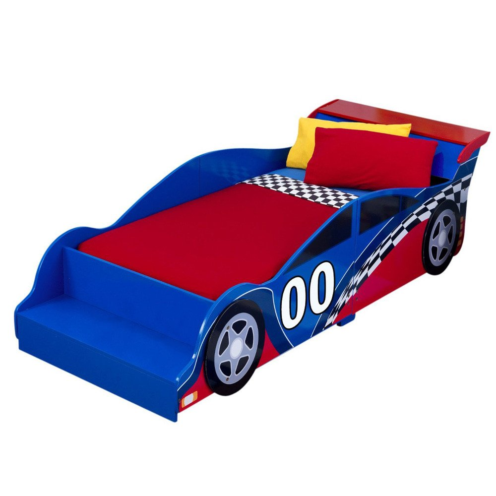 Blue Car Bed For Toddler