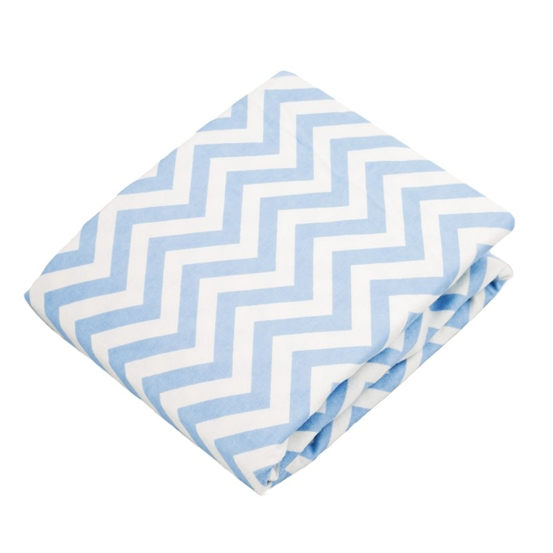 Blue Chevron Toddler Bedding