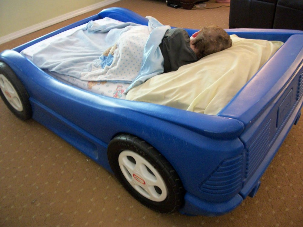 Blue Race Car Toddler Bed Little Tikes