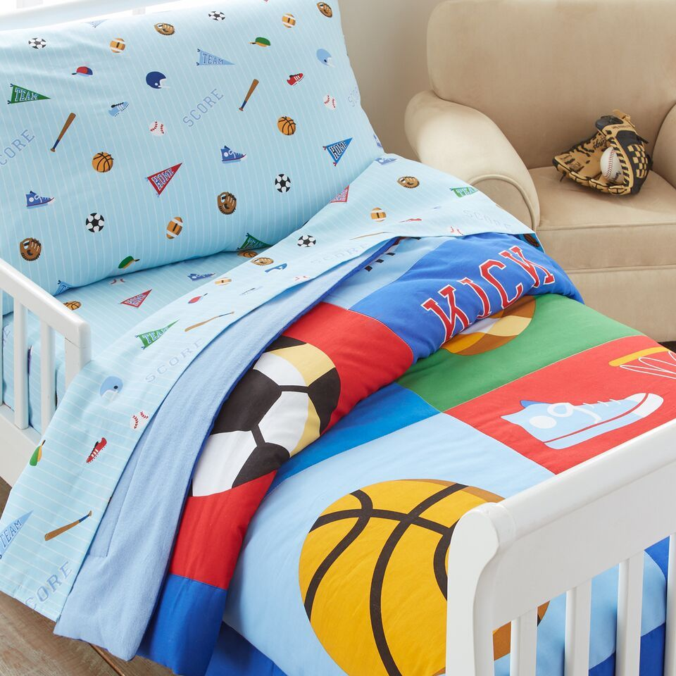 Blue Toddler Bed Comforter