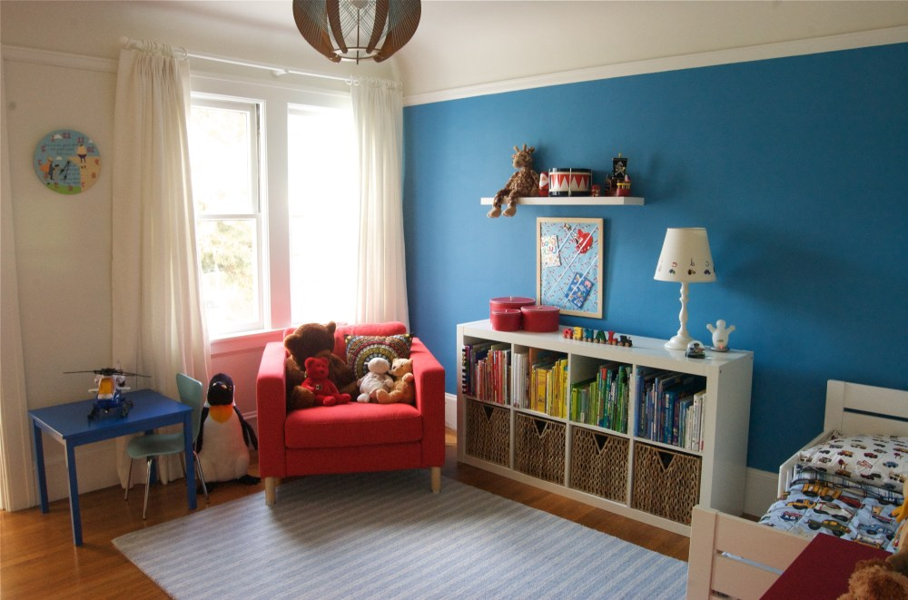 Blue Toddler Bedroom