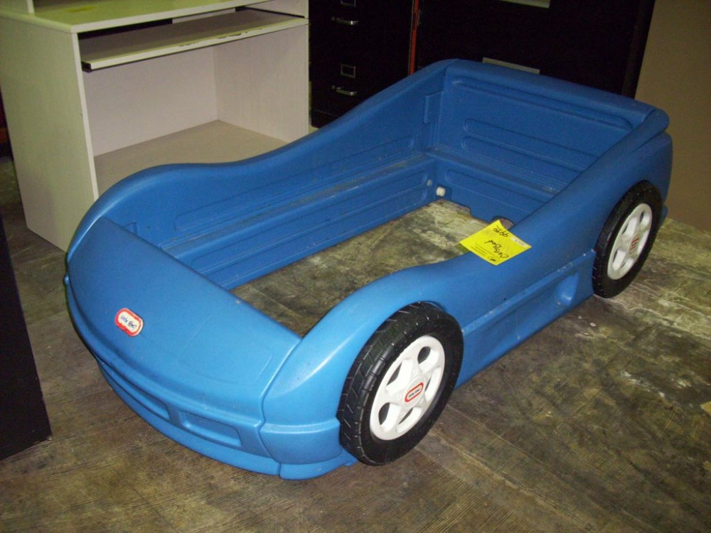Blue Toddler Car Bed