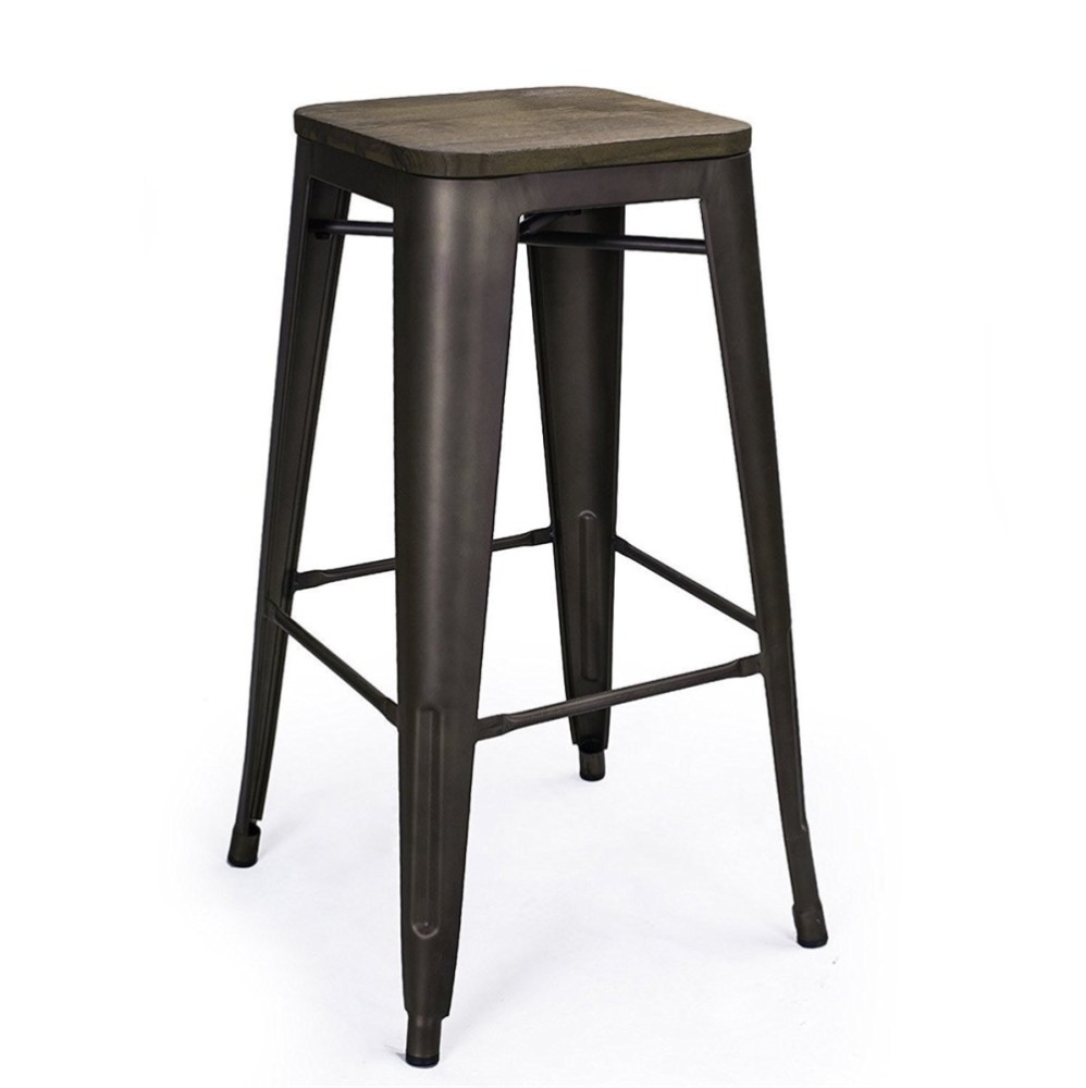 Bronze Backless Bar Stools