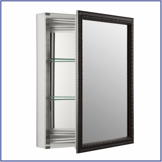 Bronze Medicine Cabinet Mirror