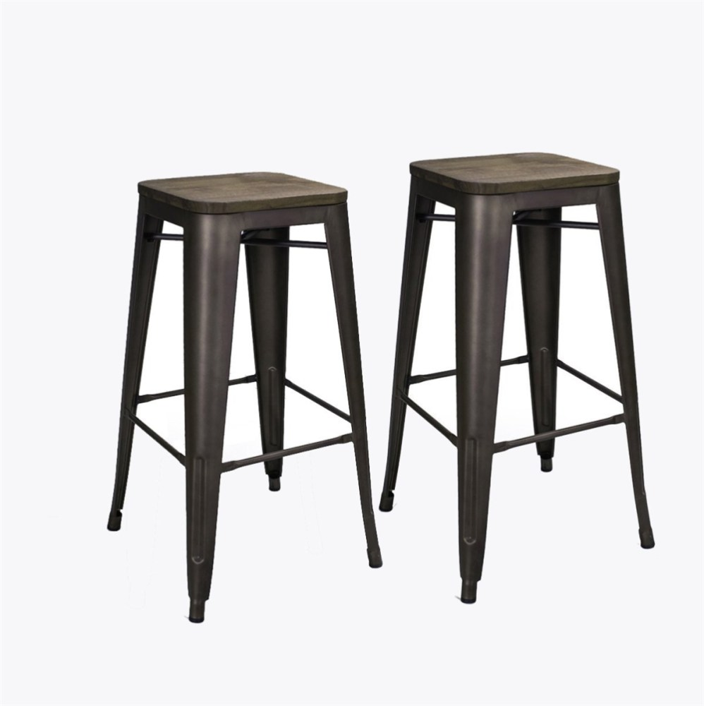 Bronze Metal Bar Stools