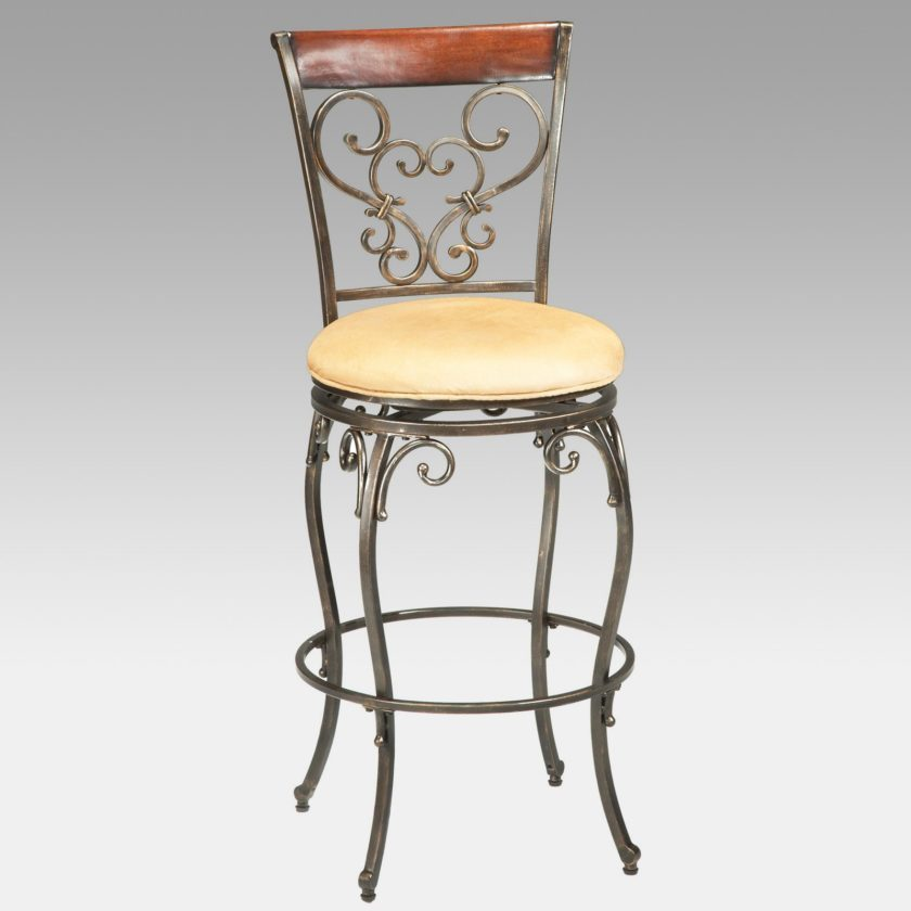 Bronze Metal Swivel Bar Stools