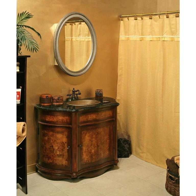 Bronze Oval Medicine Cabinet