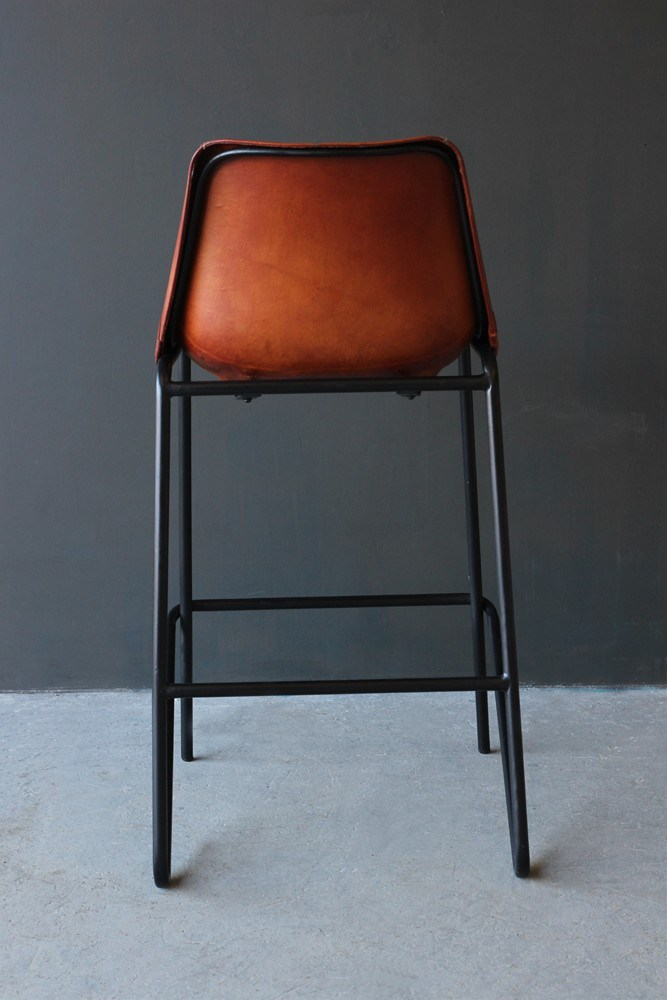 Brown Bar Stools Leather