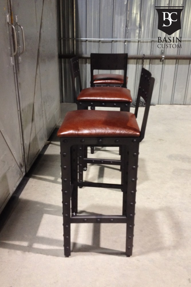 Brown Leather Bar Stools Canada