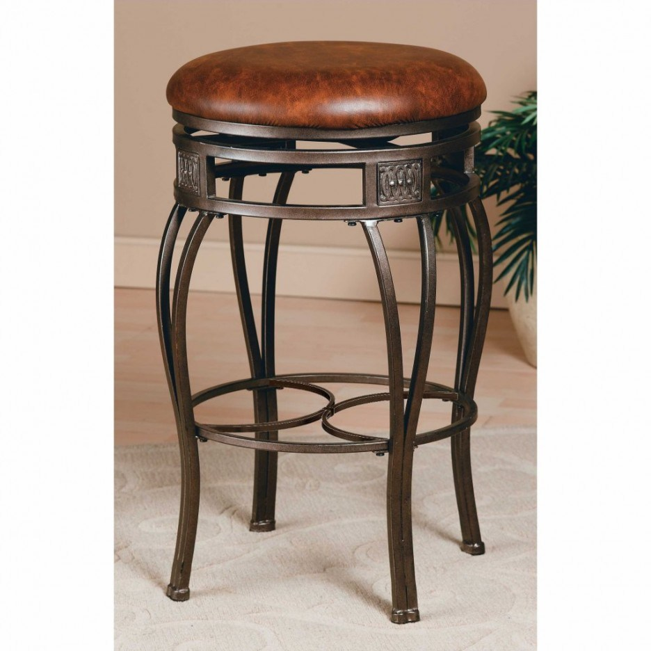Brown Leather Bar Stools Counter Height