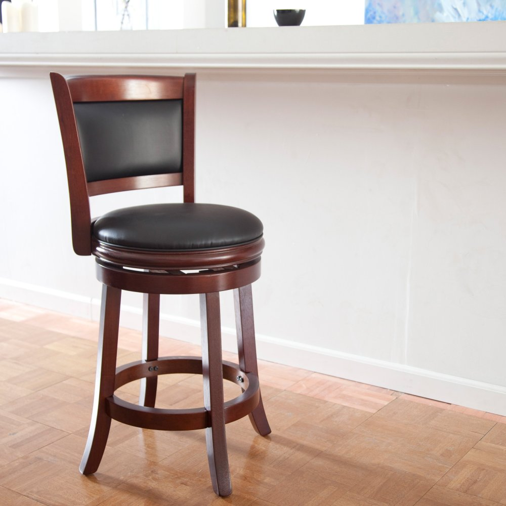 Brown Leather Bar Stools Swivel