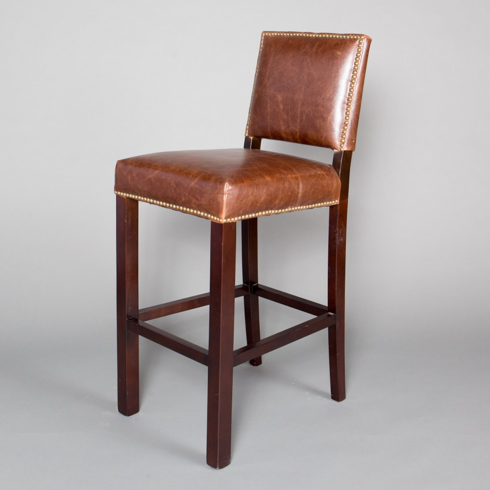 Brown Leather Bar Stools