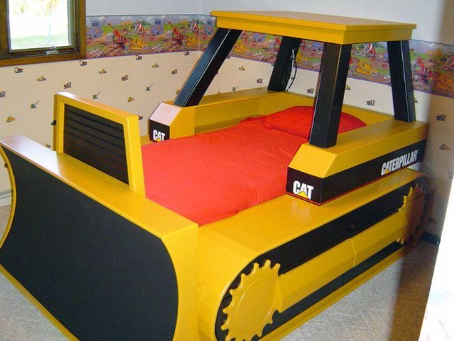 Bulldozer Toddler Bed