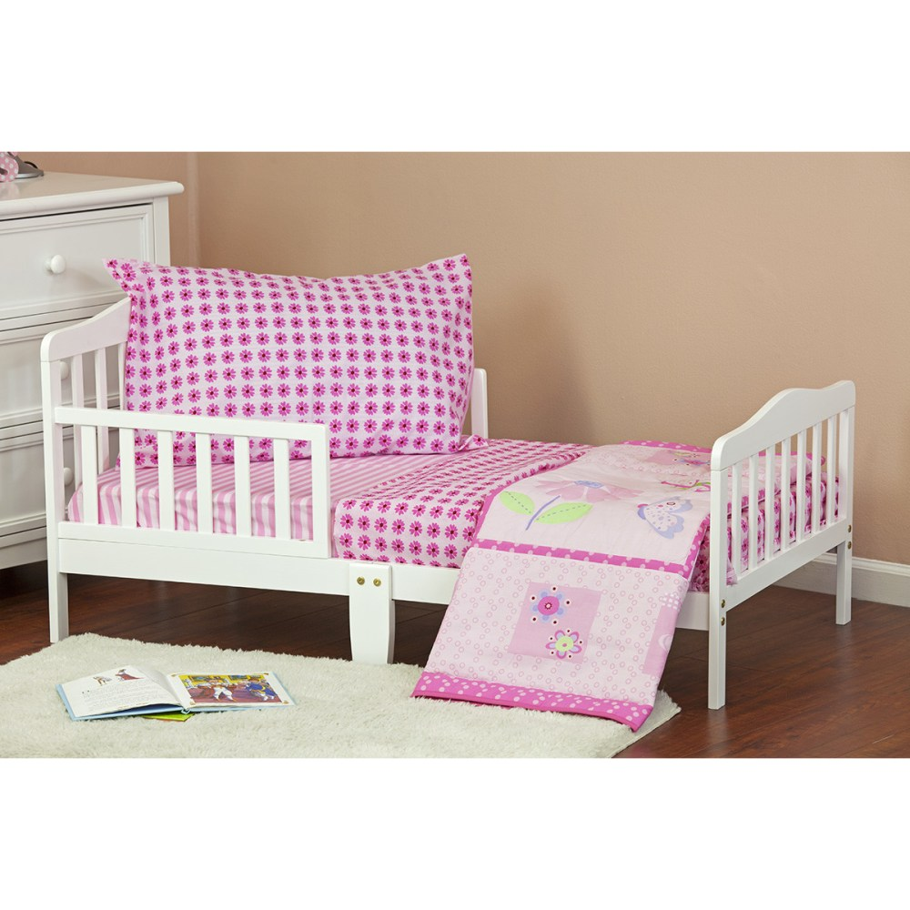 Butterfly And Flower Toddler Bedding