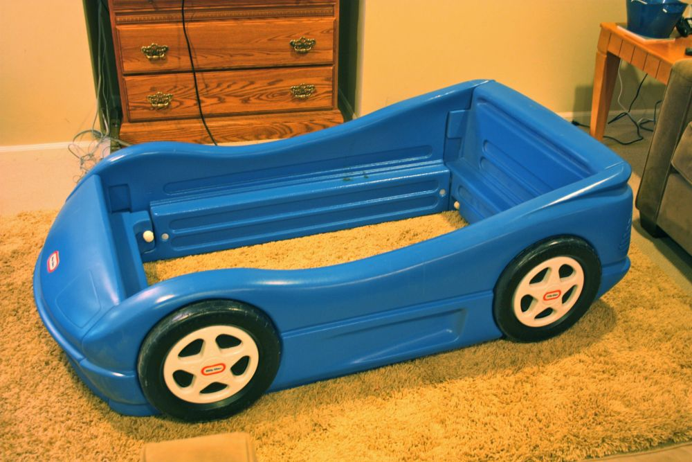 Car Toddler Bed Blue
