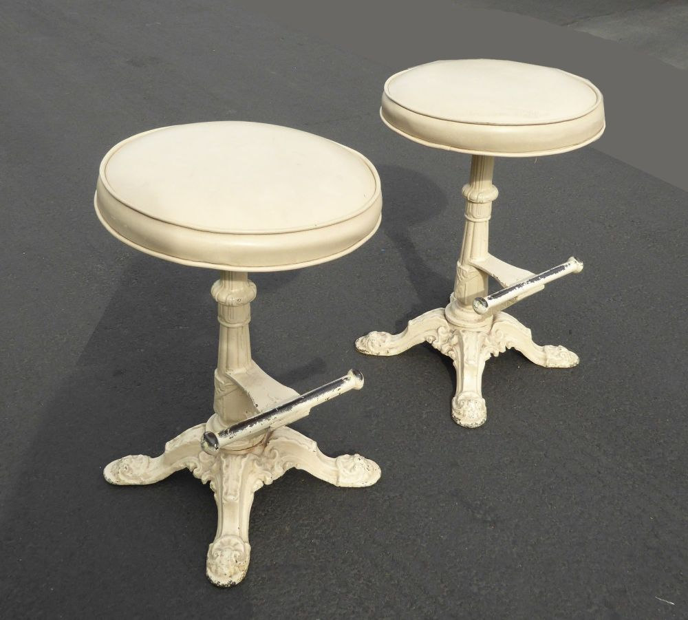 Cast Iron Bar Stools Vintage