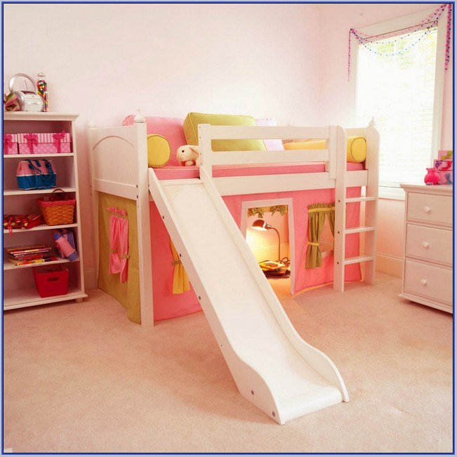Castle Toddler Bed With Slide