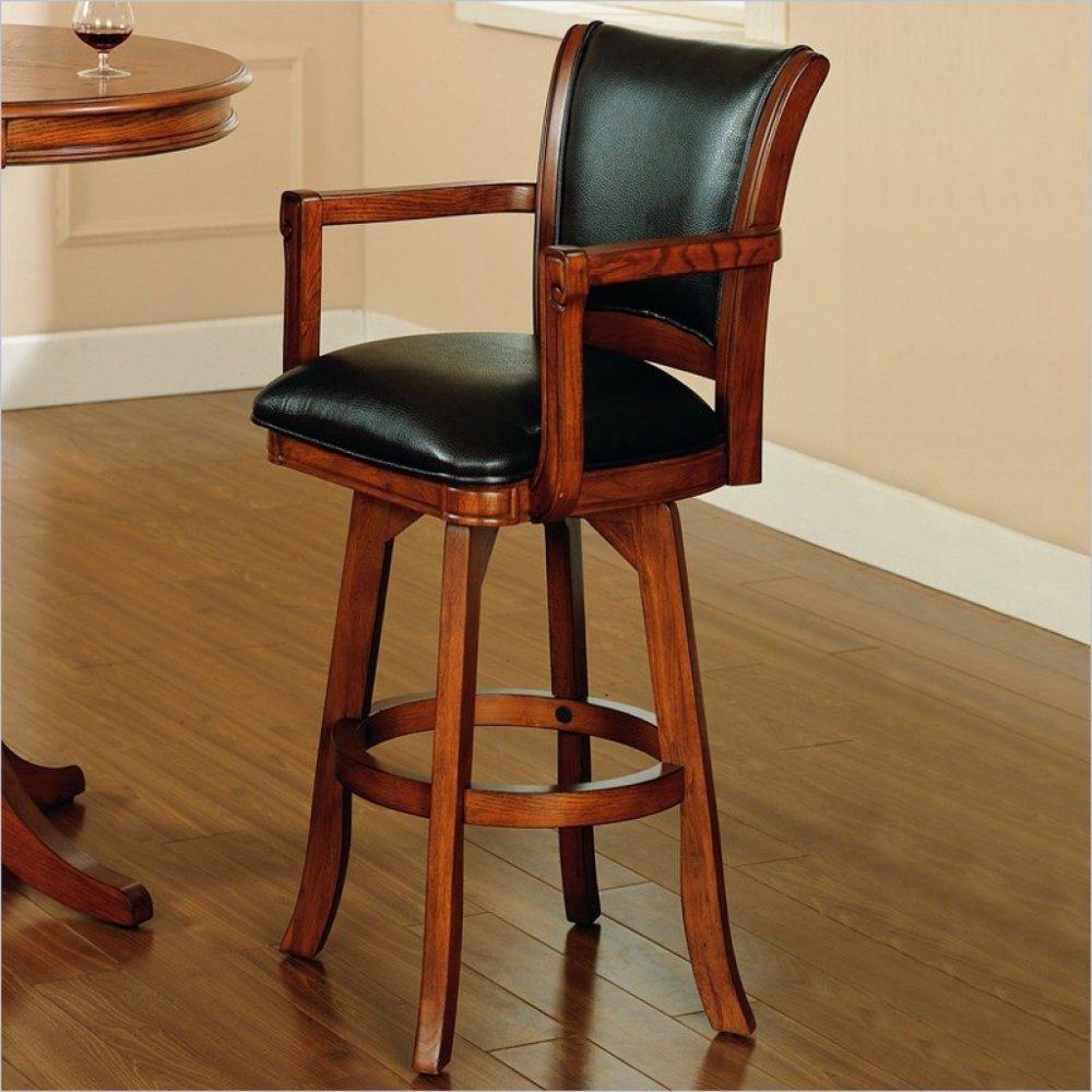 Cherry Bar Stools With Arms