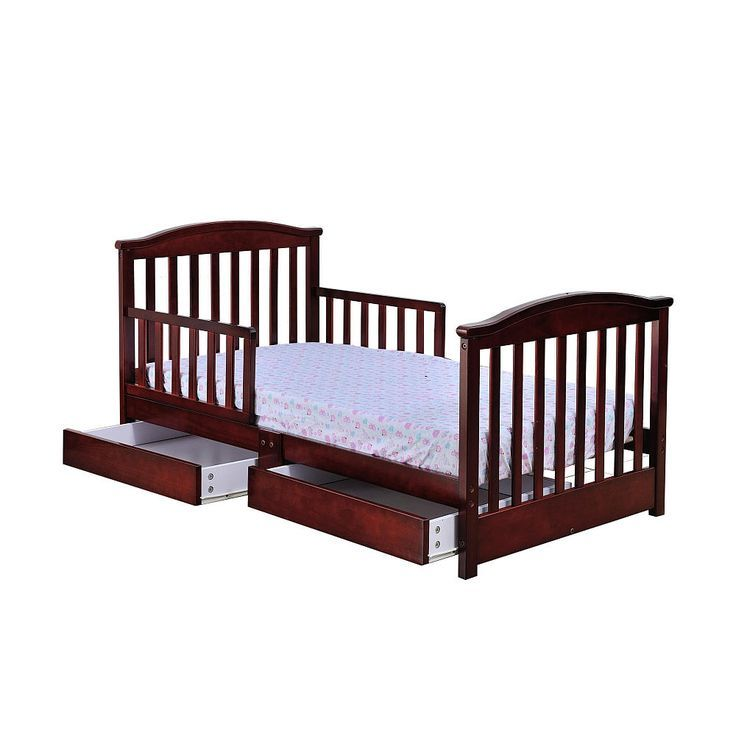 Cherry Toddler Bed With Drawer