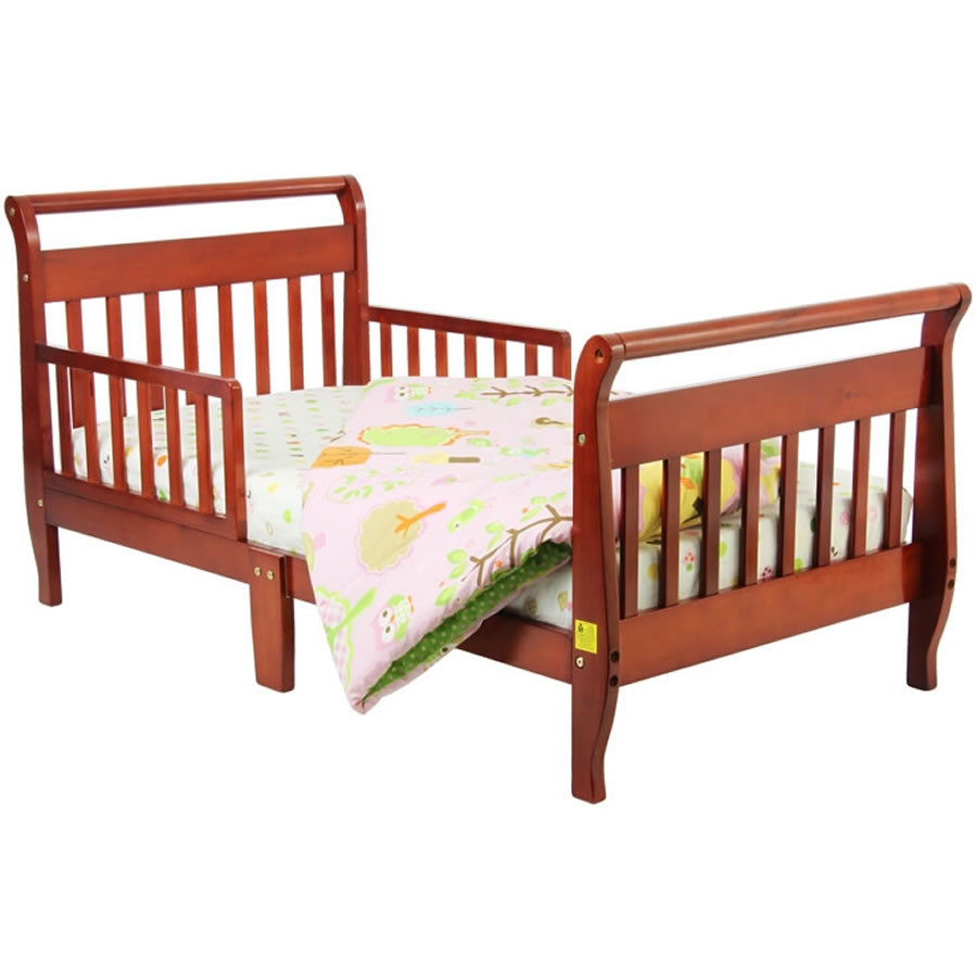 Cherry Toddler Sleigh Bed
