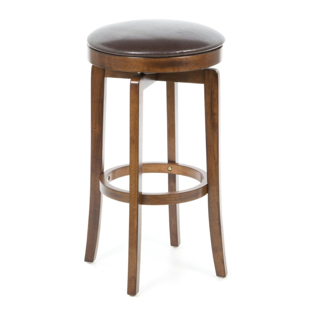 Cherry Wood Backless Bar Stools