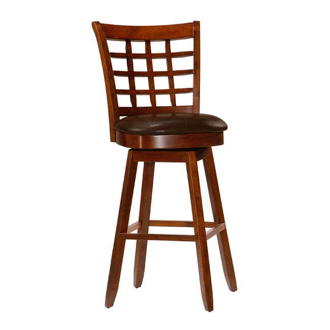 Cherry Wood Bar Stools With Backs