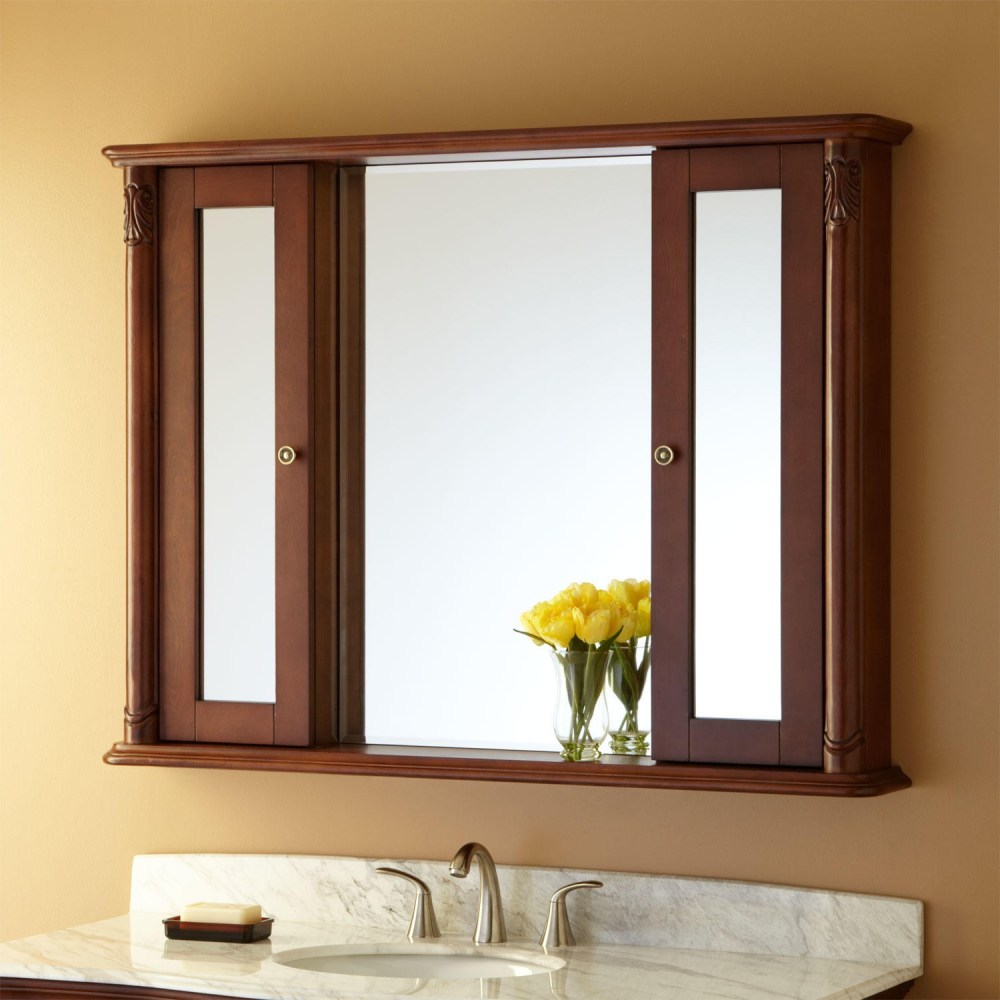 Cherry Wood Medicine Cabinet Mirror