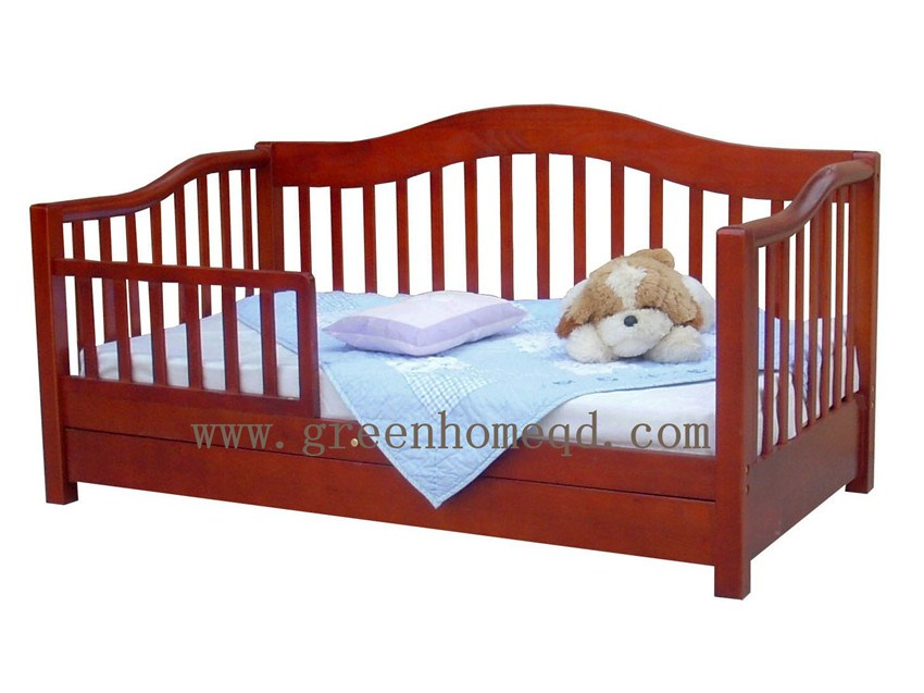 Cherry Wooden Toddler Bed