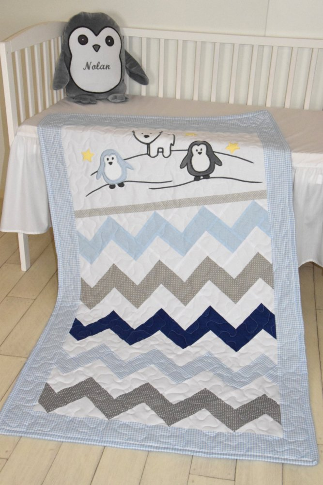 Chevron Toddler Quilt