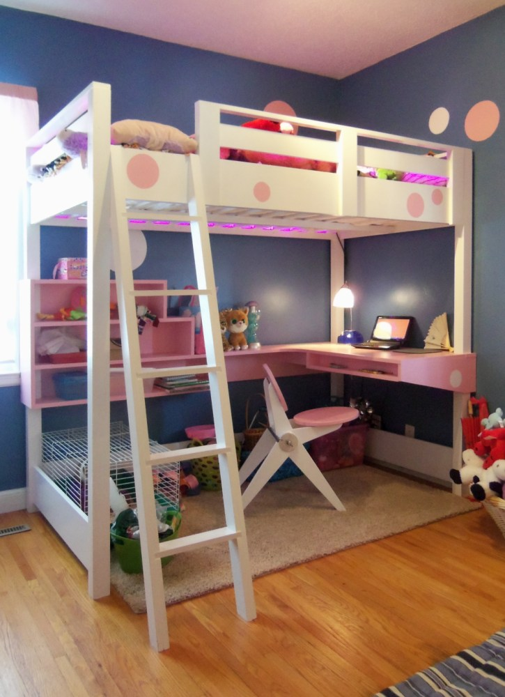 Childrens Loft Bed With Slide