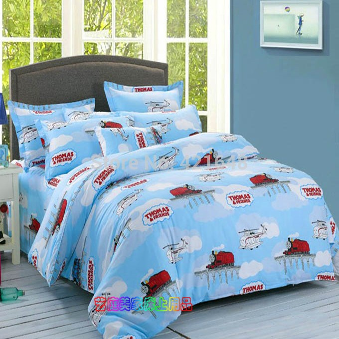 Children's Train Bedding