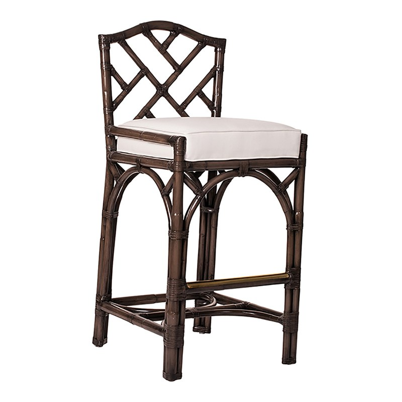 Chinese Chippendale Bar Stools