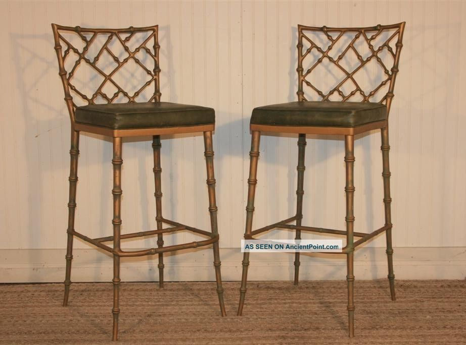 Chippendale Bamboo Bar Stools
