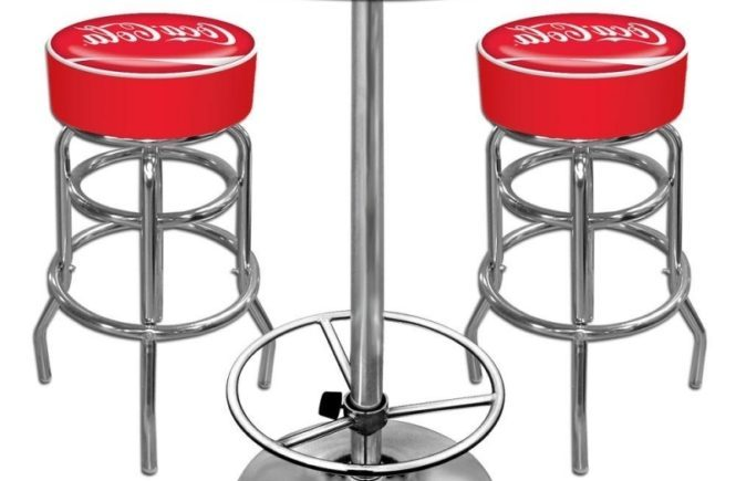 Chrome Bar Stools And Table Set