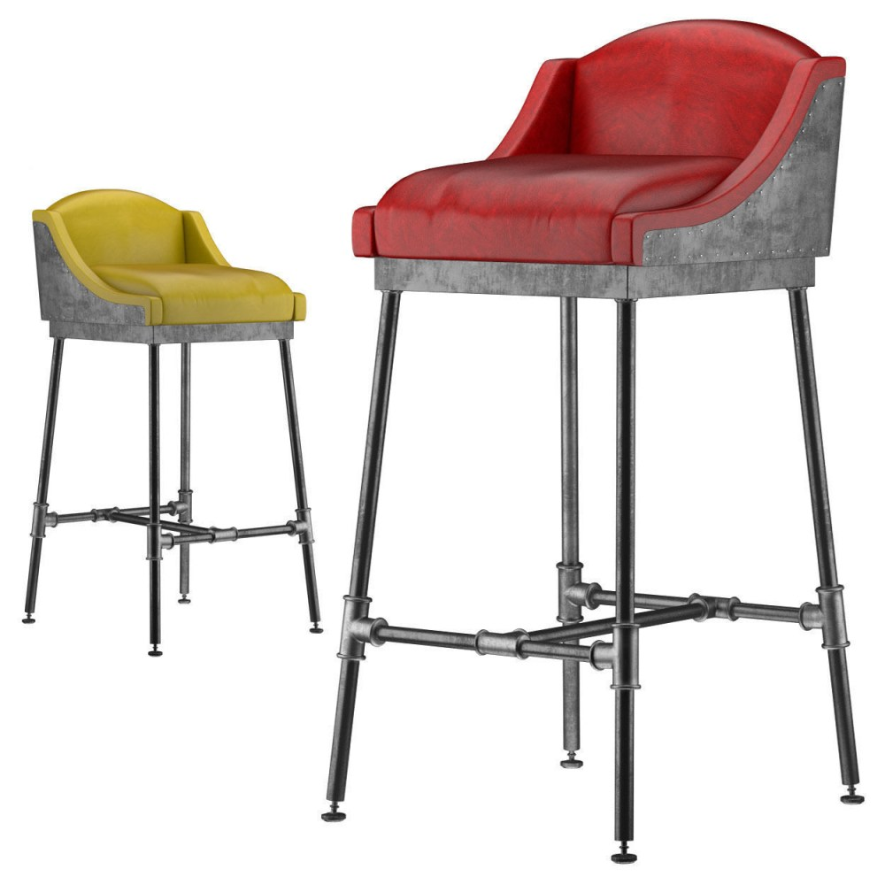 Colored Leather Bar Stools