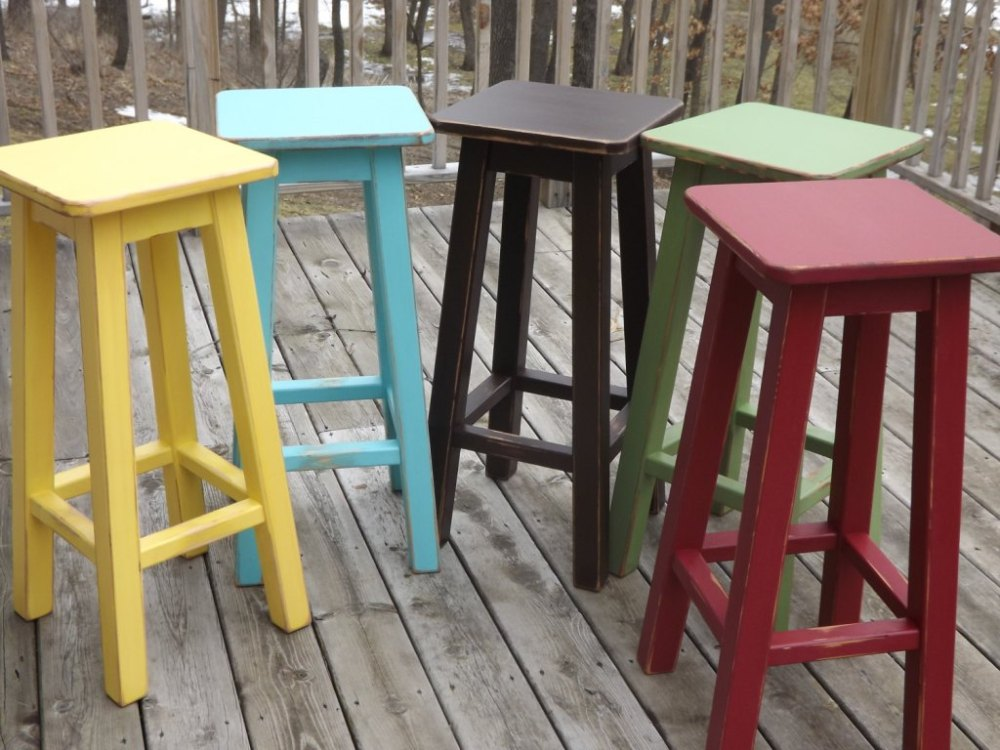 Colorful Bar Stools Leather