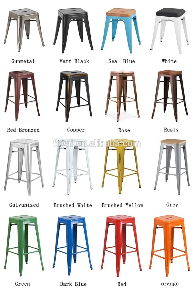 Colorful Wooden Bar Stools