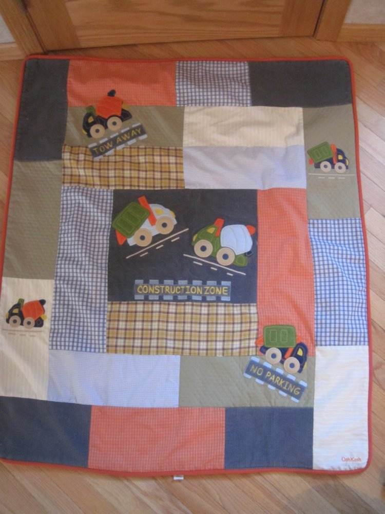 Construction Toddler Quilt