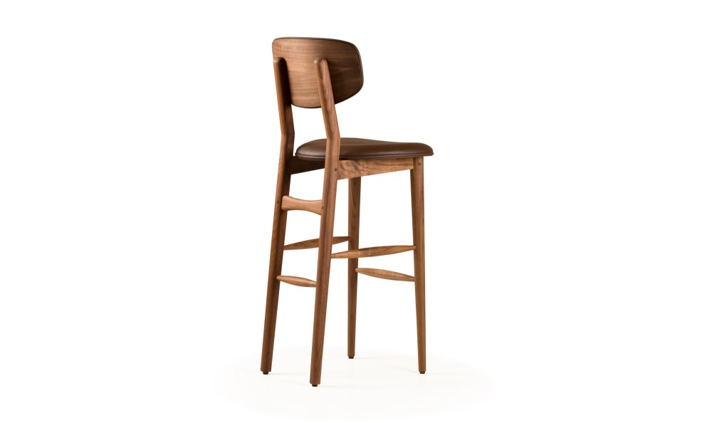 Contemporary Low Back Bar Stools