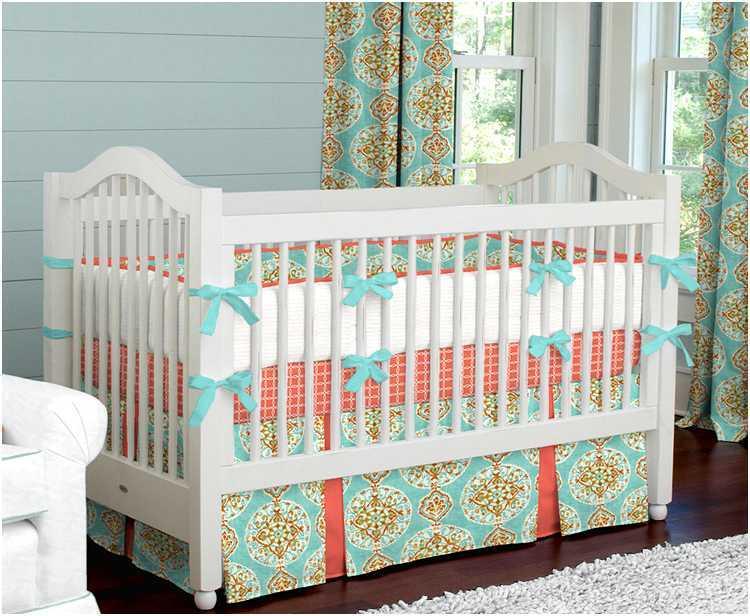 Coral Toddler Bedding