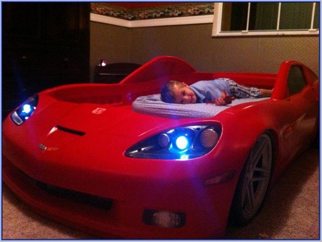 Corvette Toddler To Twin Bed With Lights