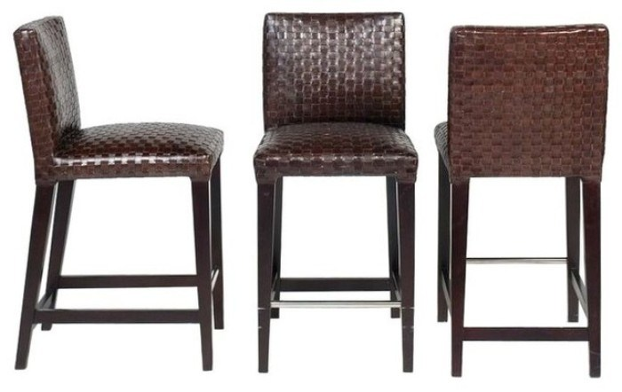 Counter Height Leather Bar Stools