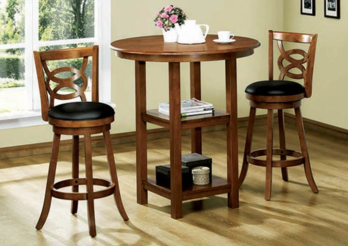 Counter Height Swivel Oak Bar Stools