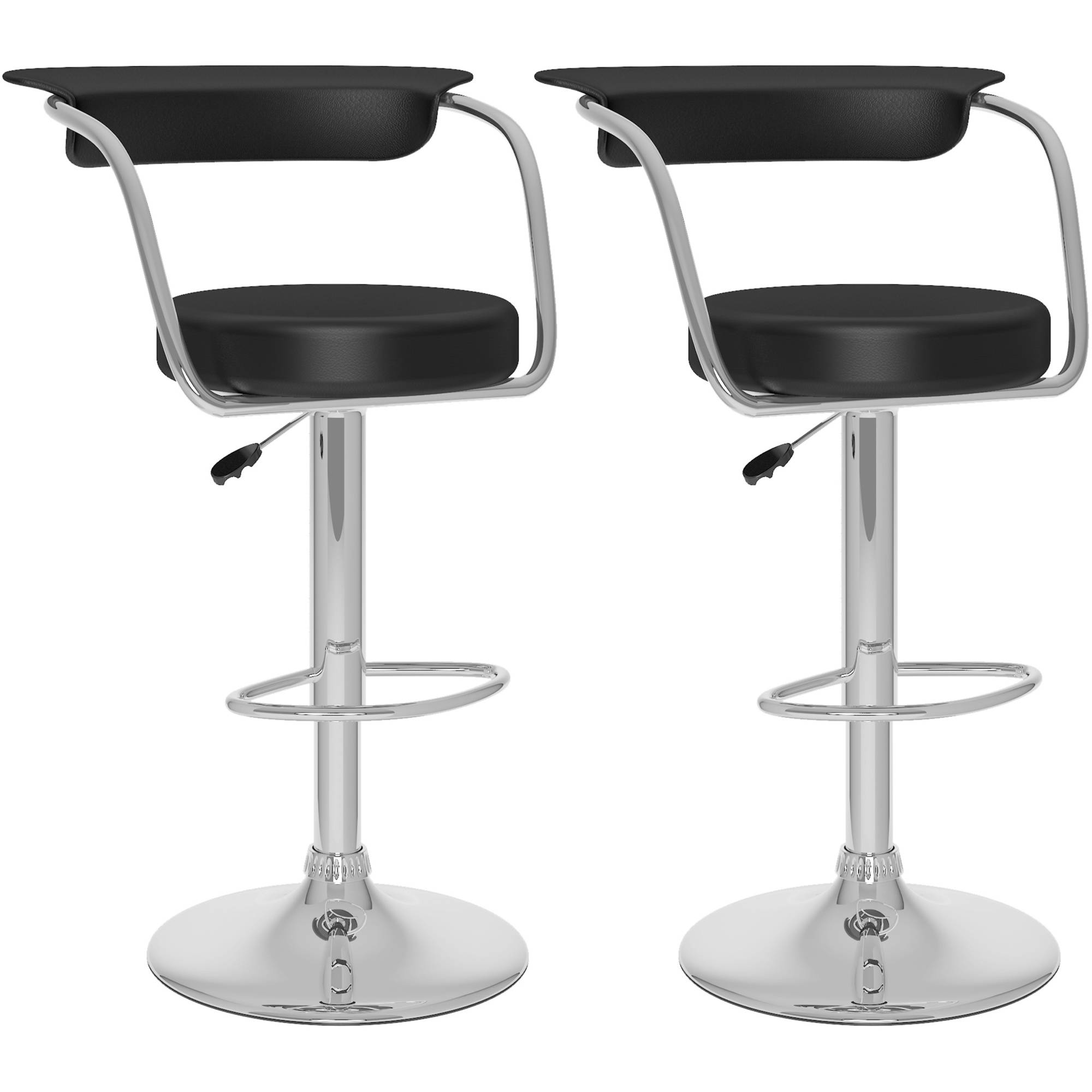 Cream Ivory Leather Bar Stools