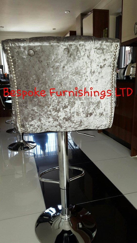 Crushed Velvet Bar Stools