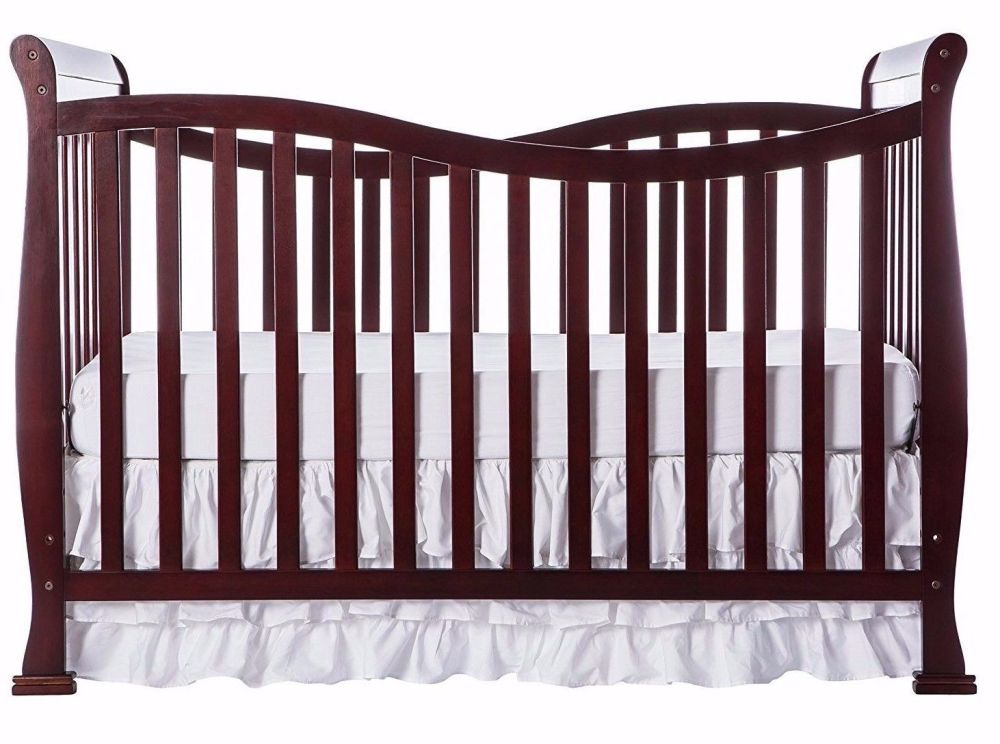 Dark Cherry Wood Toddler Bed