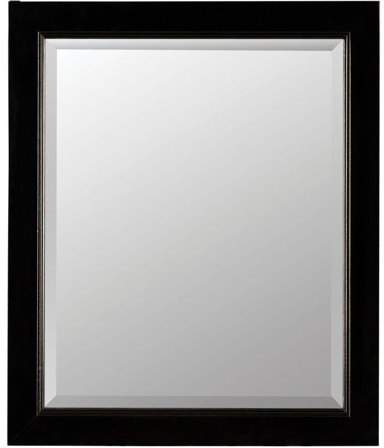 Dark Wood Framed Medicine Cabinet