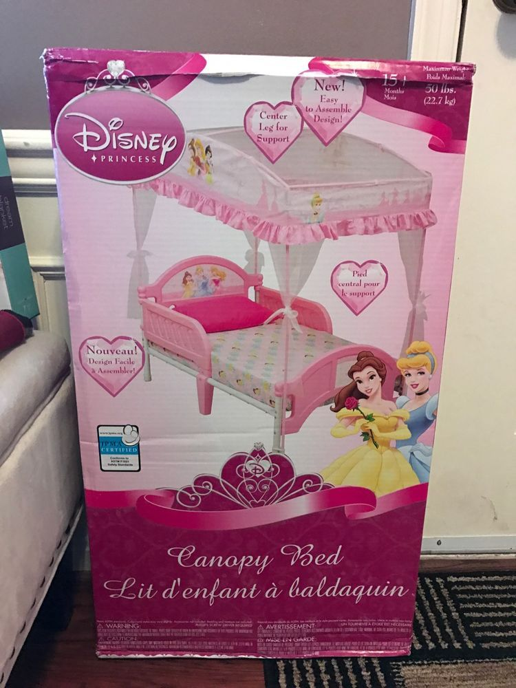 Delta Disney Princess Toddler Bed With Canopy