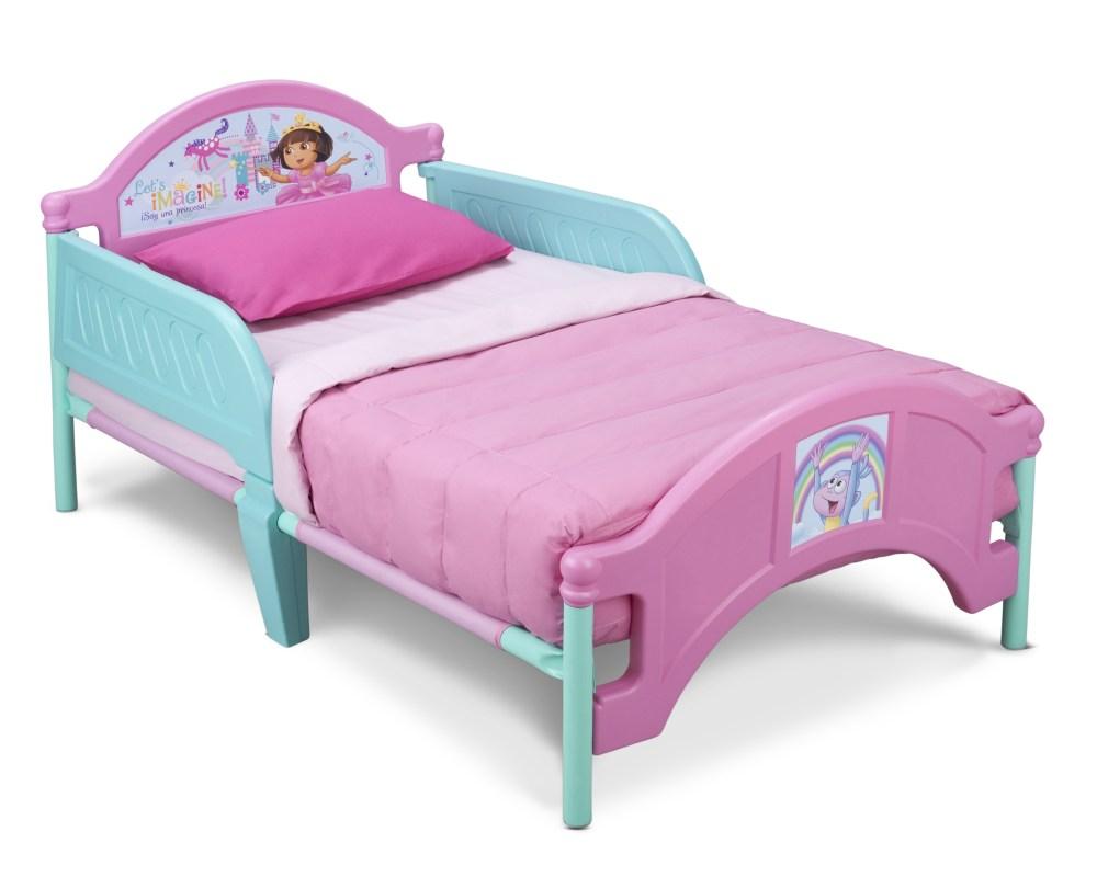 Delta White Wooden Toddler Bed